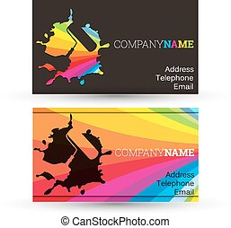 Business card painting