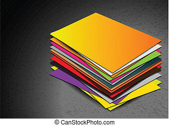 Business card pile template