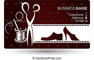Business card repair shoe vector
