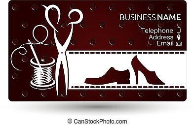 Business card repair shoe vector