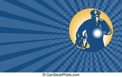 Business card Security Guard Policeman Police Dog