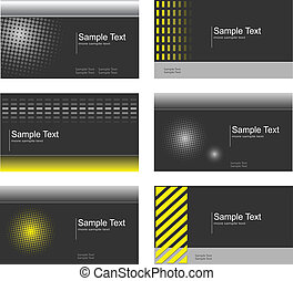 Business card set - Business card collection, grey and...