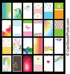 Business card - Set of colorful business cards