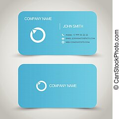 Round corner business card template vector illustration vector business card set template blue color round corners vector illustration accmission Images