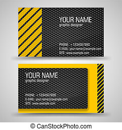 Business Card Set - Vector abstract creative business cards...