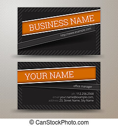 Business Card Set - Vector creative business cards (set ...