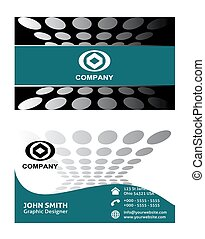 Business card set, vector design