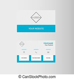 Business card - Simple geometric template for business card