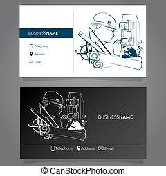 Business Card Surveyor - Business card concept of Geodesy...