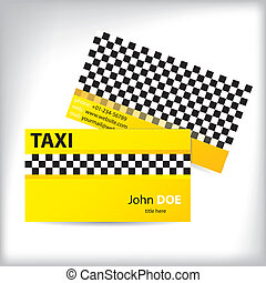 Business card taxi design