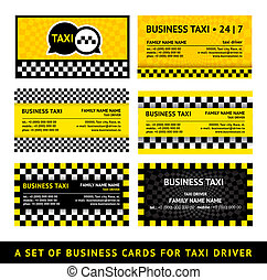 Business card taxi - eighth set