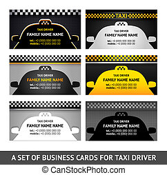 Business card taxi - fifth set