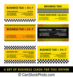 Business card taxi - seventh set