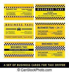 Business card taxi - sixth set