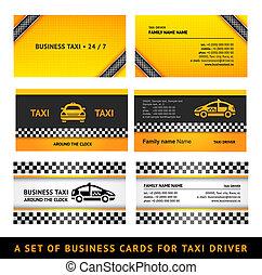 Business card taxi - third set card taxi templates