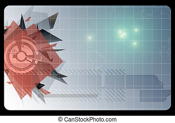 Business card template. Abstract background.