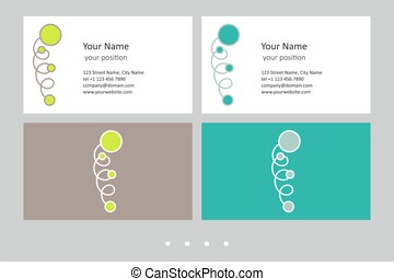 Business card template. Attractiveness in two color schemes...