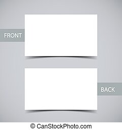 Blank business card with shadow mockup cover template blank business card template accmission Choice Image