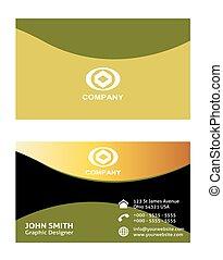 Business card template design set