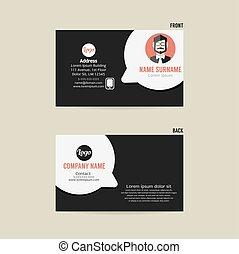 Interior Design Business Card Vector Illustration Interior Design
