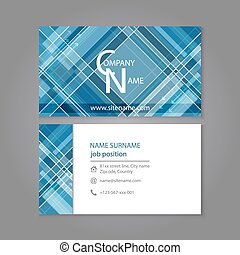 Business card template design with abstract pattern