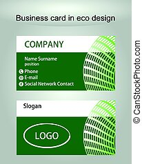 Environmental business card environmental and recycle card business card template in green design useful for ecologic or environmental institution colourmoves Images