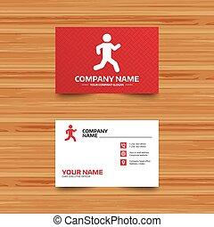 Running sign icon. Human sport symbol.