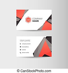 Business card template - Simple geometric template for...