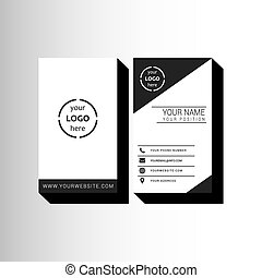 Minimal business letterhead template vector clip art search business card template spiritdancerdesigns Choice Image
