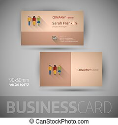 Business card template - vector illustration