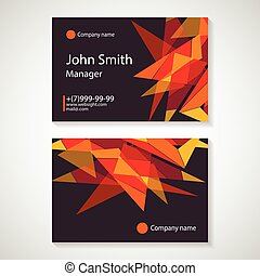 business card template vector illustration,