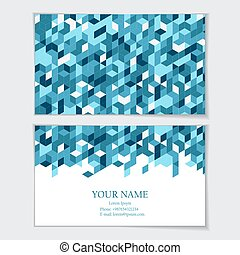 Business card template. Visit card, invitation, greeting...
