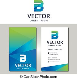 Business card Template with a lette - Vector-Illustrator 10