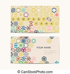 Business card template with abstract background. Vector...