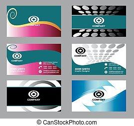 Business card templates set