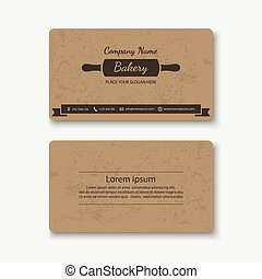 Cake business card vector business cards on holidays birthdays business card templatector fbccfo Image collections