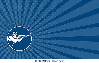 Business card Trap Shooting Shotgun Circle Icon