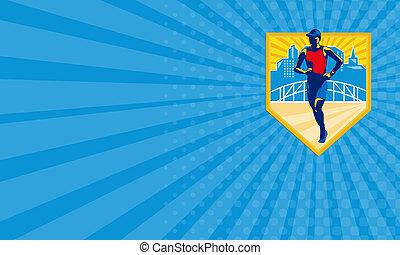Business card Triathlete Marathon Runner Retro