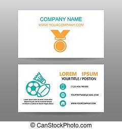 Business card vector background, trainer gym