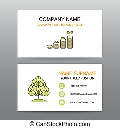 Business card vector background,growth