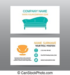 Business card vector background,Home Office