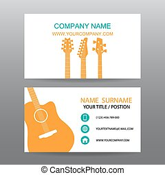 Business card vector background,Musician