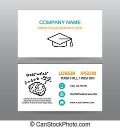 Professor business card business card vector backgroundprofessors or teachers colourmoves