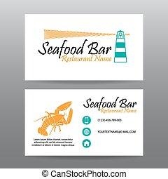 Business card vector background,Restaurant staff
