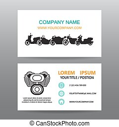 Business card vector background,Motorcycle  showrooms