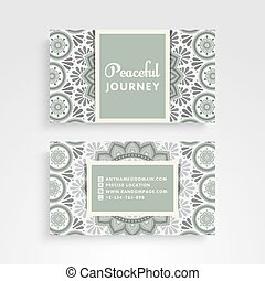 Business Card. Vintage decorative elements. Ornamental...