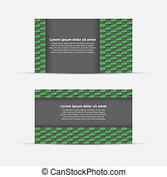 Business card with abstract background. Vector Illustration