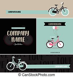 Business card with bicycle template