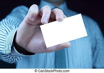 business card with copy space
