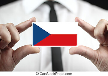 business card with Czech Flag